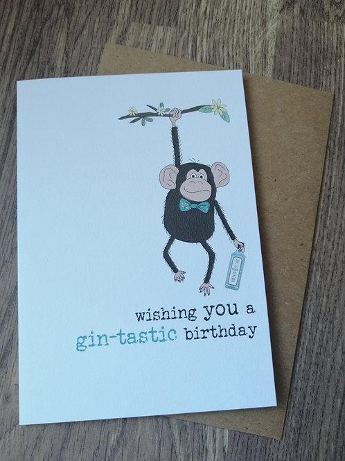 Birthday Card - Gin-tastic birthday