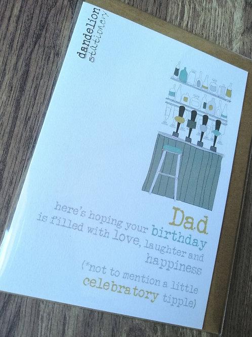 Celebratory Tipple Dad  - Birthday card