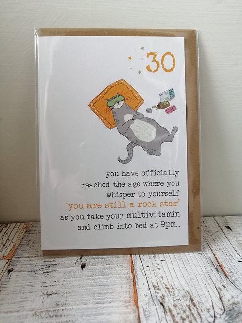 Rock star - Birthday card 30, 40, 50, 60 WW673