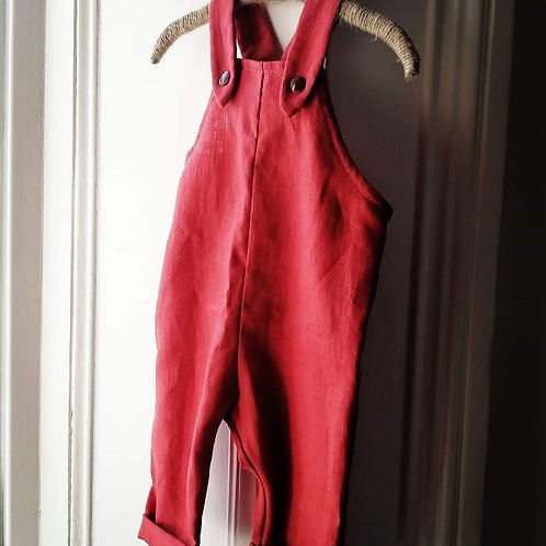 Linen new baby dungarees 0-3 months