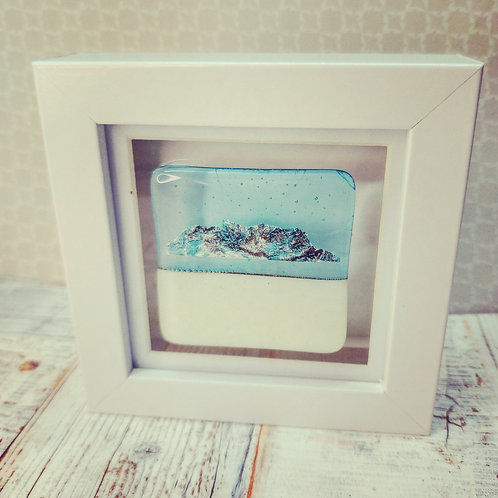Small fused glass frame LD1.0