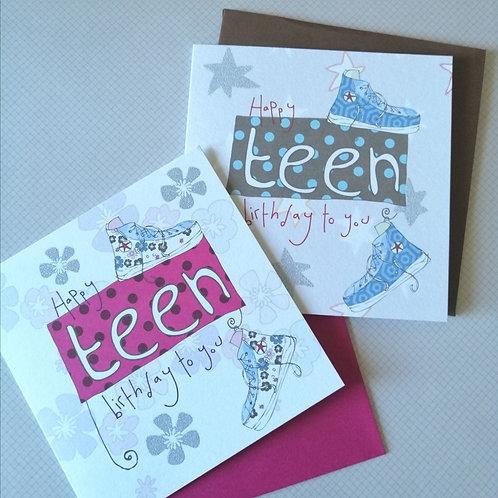 Boy or Girl Teen Birthday card