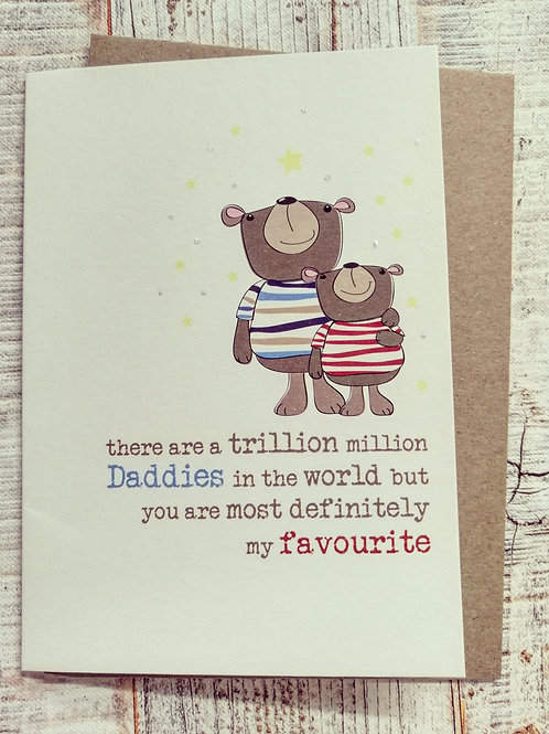 """""""Trillion Million"""" Father's Day Card"""