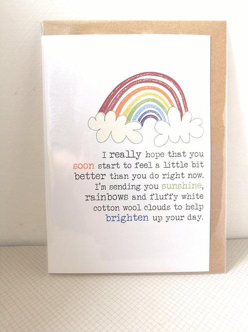 Feel better soon - rainbow card