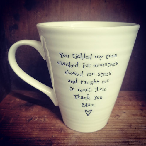 East of India porcelain mug - You tickled my toes