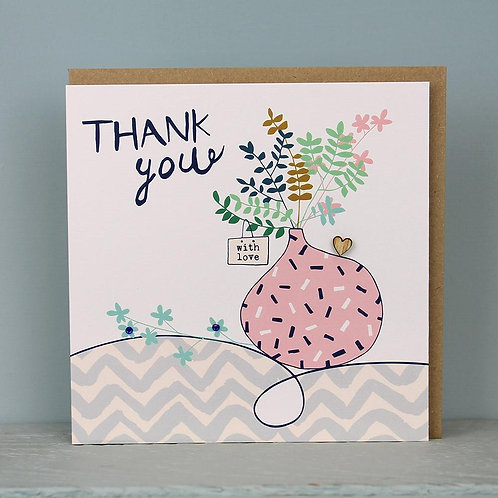 Thank you - with love card