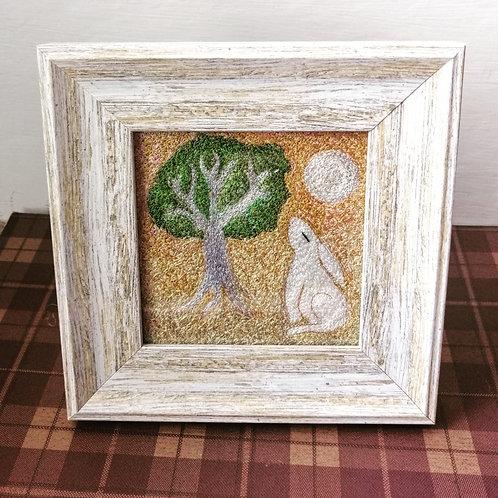 Imagine North embroidered picture