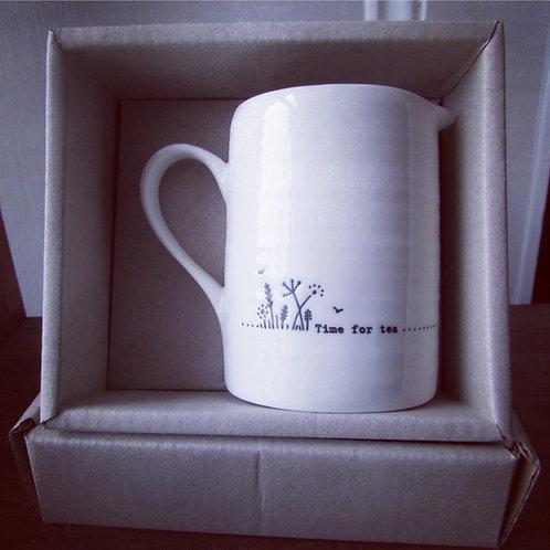 Small porcelain jug- Time for tea