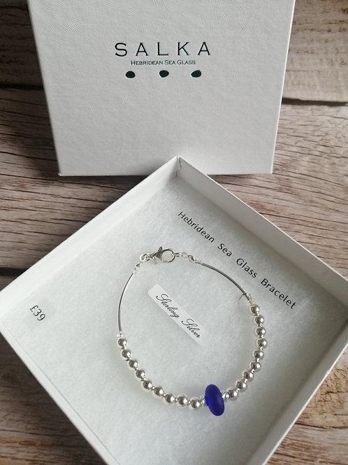 Hebridean sea glass bracelet