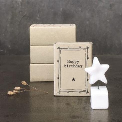 Matchbox figure - Happy Birthday