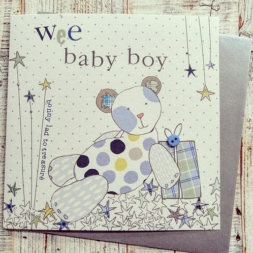 Wee baby boy card