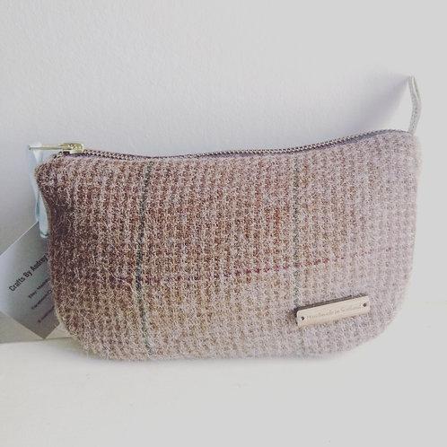 Tweed Filled Toilet Bag