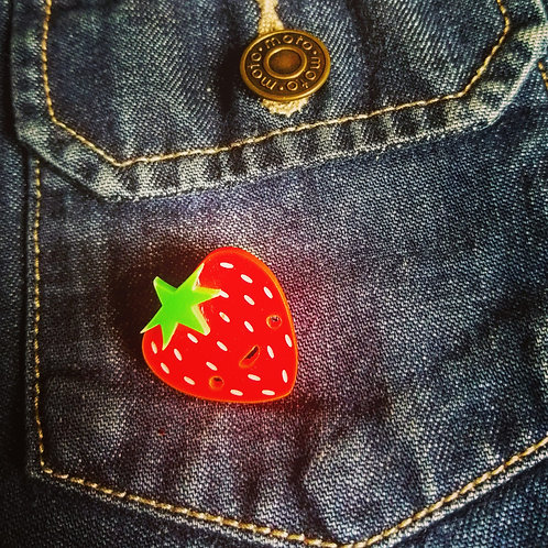 Strawberry badge