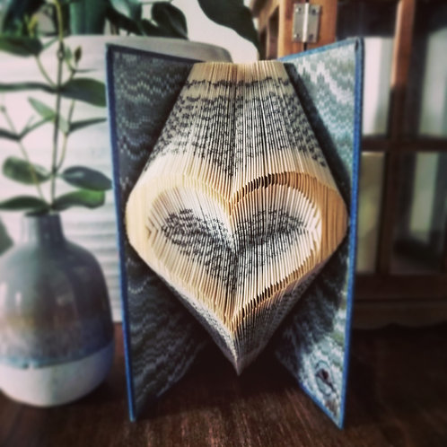 Love heart book fold