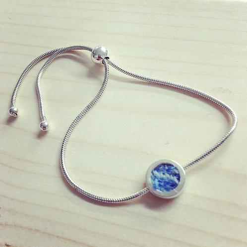 Sterling Silver Harris Tweed Bracelet
