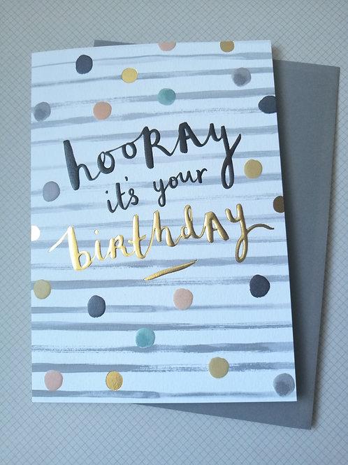 Hooray it's your birthday card