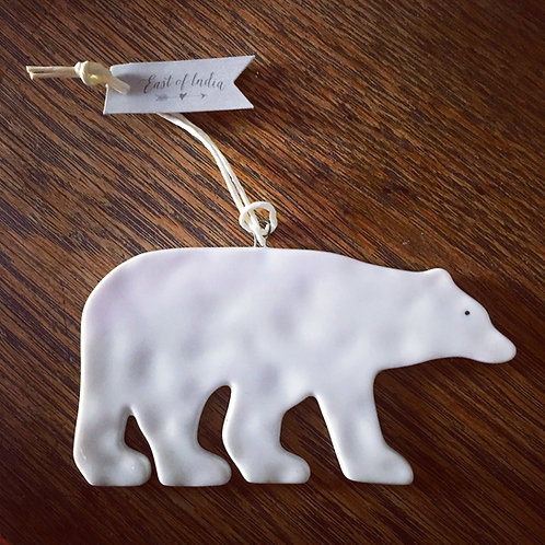 Porcelain Polar Bear Hanger