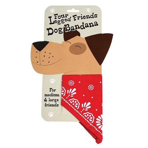 Large dog bandanas red & navy available