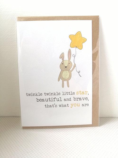 Twinkle twinkle little star card