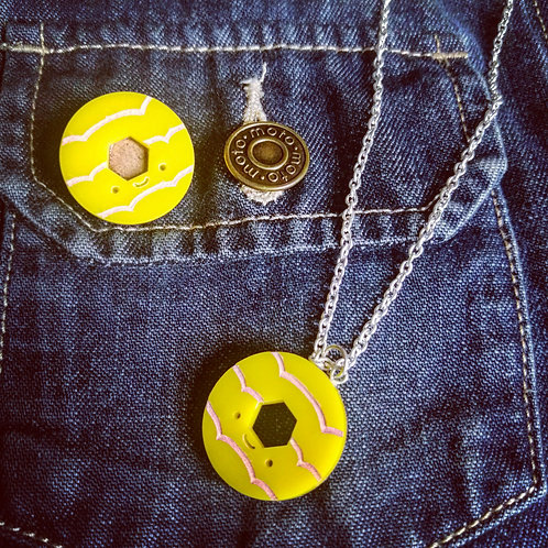 Party ring badge and necklace ( sold separately)