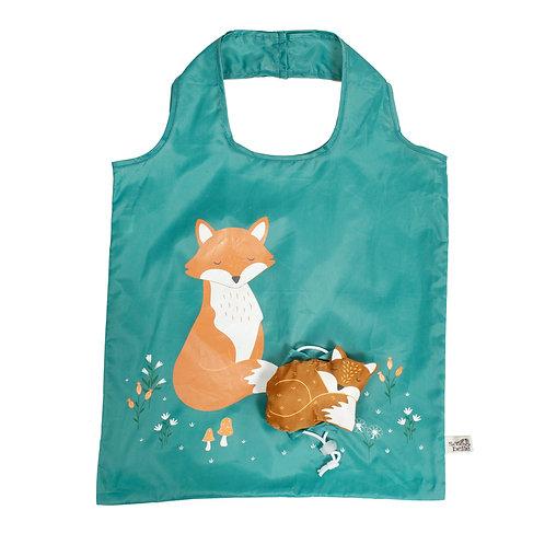 Woodland fox foldable shopper