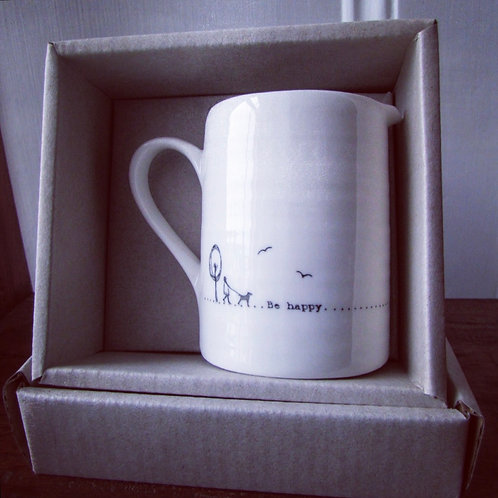 Small porcelain jug - Be Happy