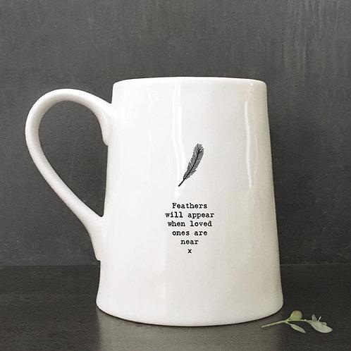 Feathers will appear - ceramic mug