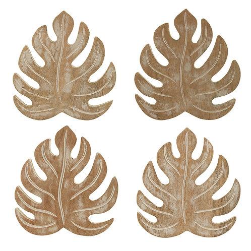 Cheese plant leaf coasters