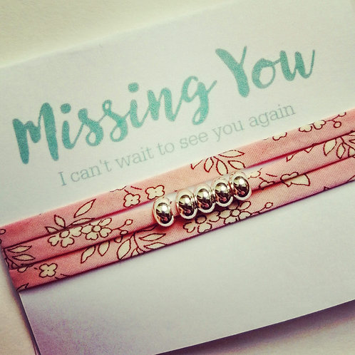 Missing You - Isolation bracelet - Liberty Tana Lawn Capel fabric