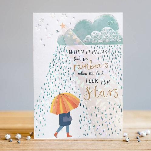 When it rains card