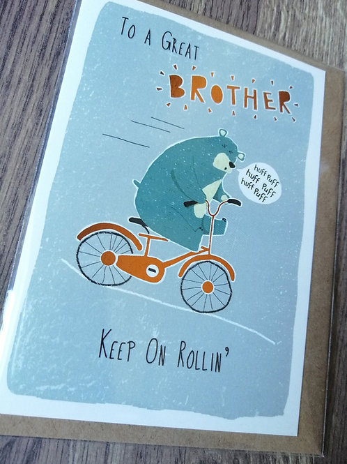 Great Brother Birthday card