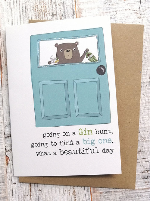 Birthday Card - Gin Hunt