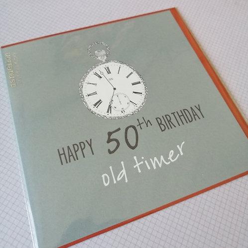 50th old timer  Birthday card