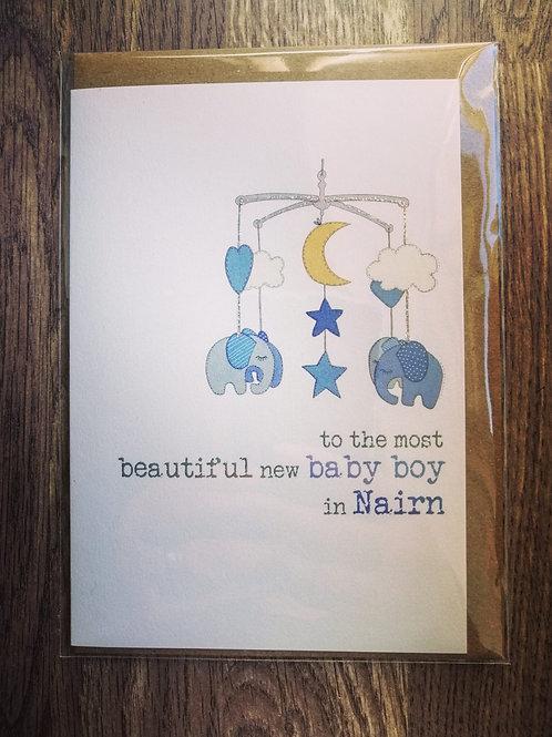 New Baby Boy Card - Nairn