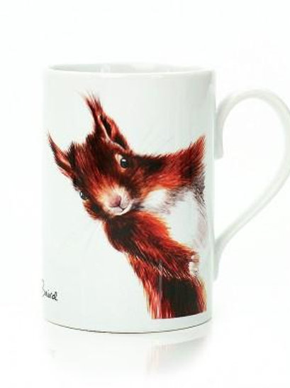 Red Squirrel Porcelain Mug