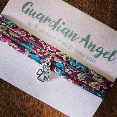 Guardian Angel bracelet - Liberty fabric