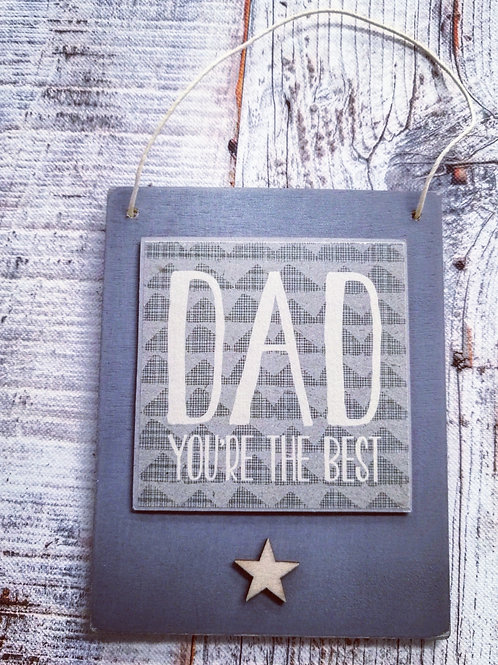 Small Dad plaque
