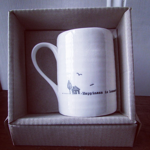 Small porcelain jug- Happiness is homemade