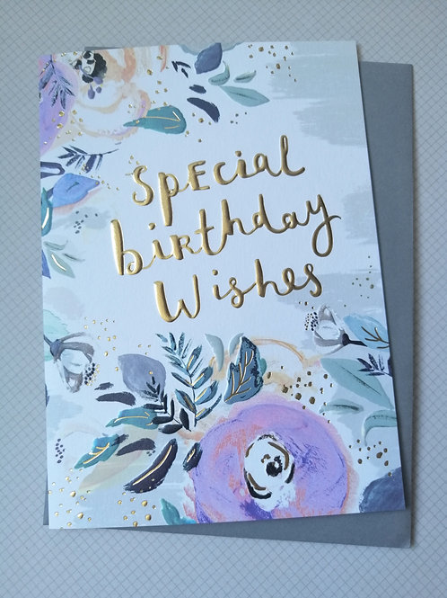 Special birthday wishes card