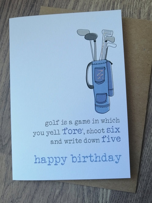 Birthday Card - golf is a game