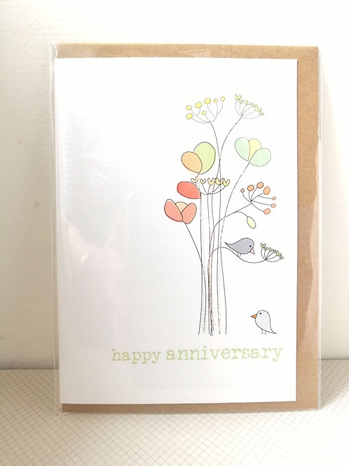 Happy Anniversary - birds card