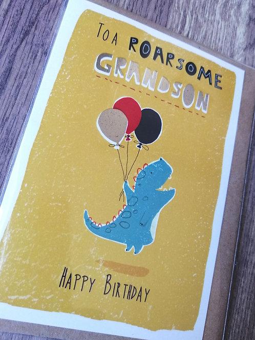 Roarson Grandson Birthday card