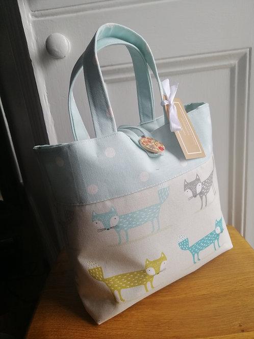 Fox and polkadot tote bag