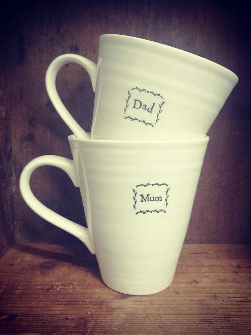 Mum & Dad East of India porcelain mug