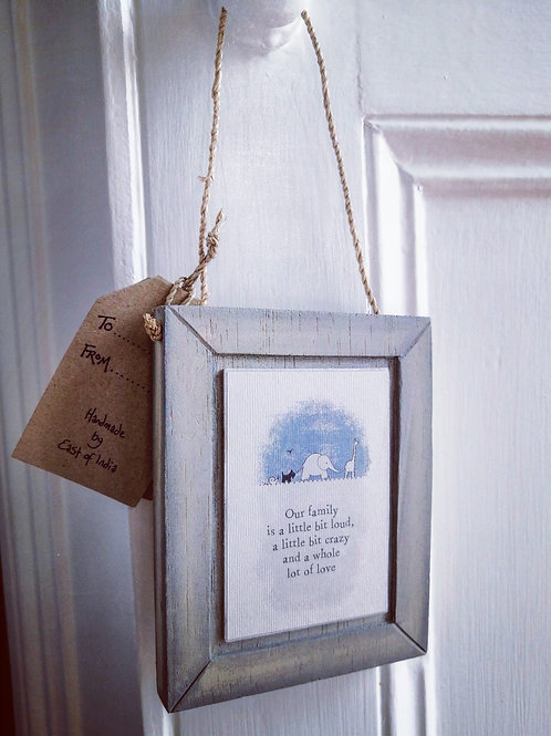 Wooden hanging picture