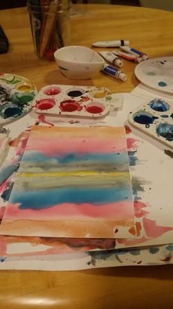 Choosing a color palette.