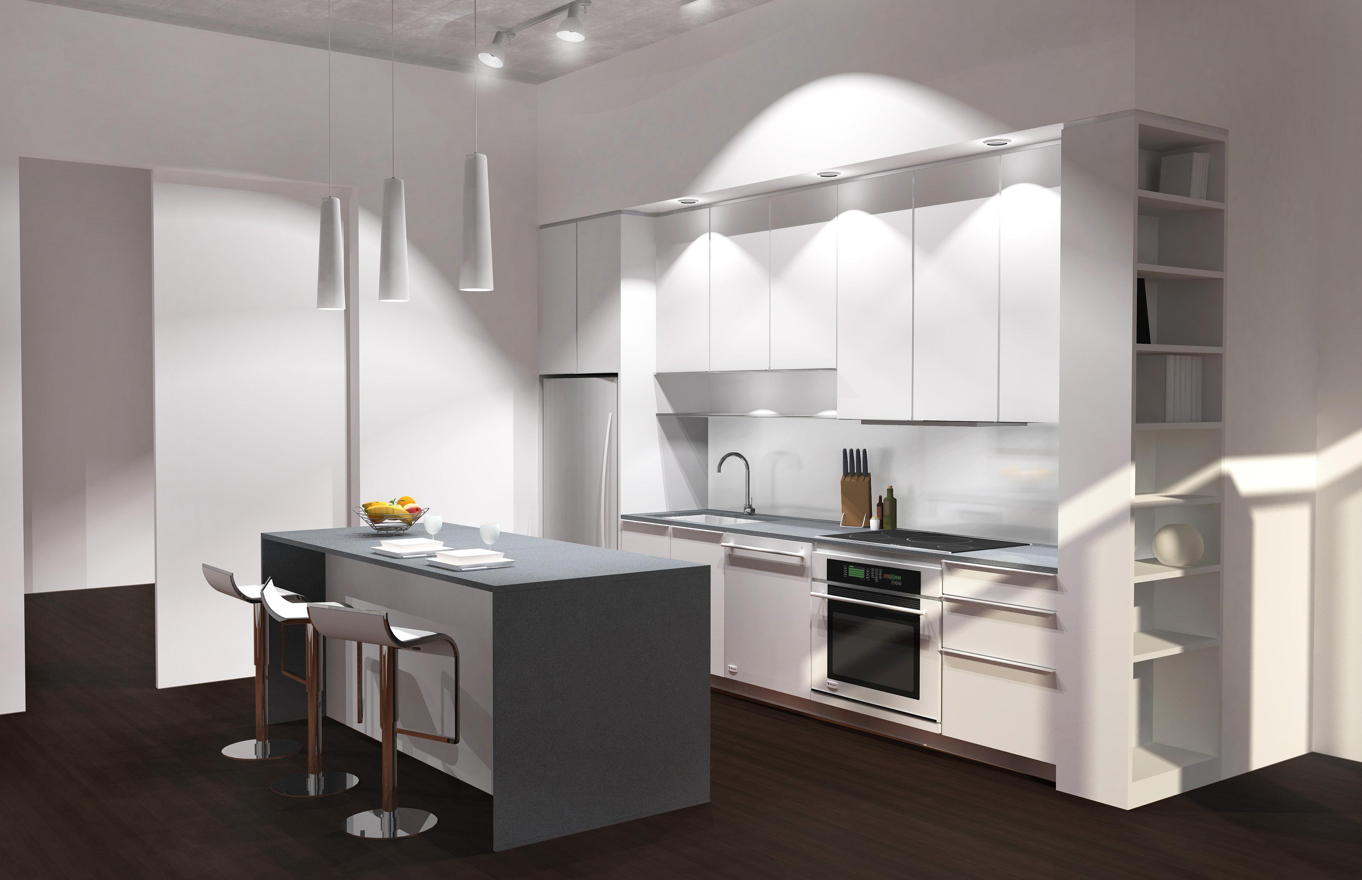 decoration cuisine grise et blanche. Black Bedroom Furniture Sets. Home Design Ideas