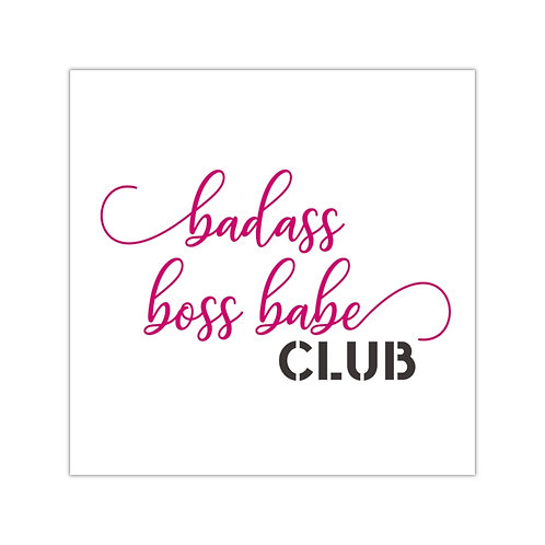 Badass Boss Babe Club Sticker
