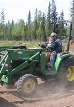 Tilling the Land For Alaska Peonies