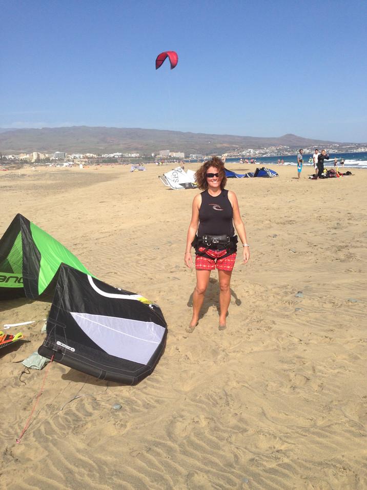 Kiting in Gran Canarias
